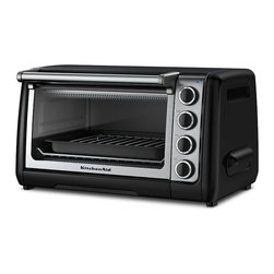 KitchenAid - KitchenAid RKCO111OB Onyx Black 10-inch Countertop Oven (Refurbished) - Cook like a professional with this ten-inch countertop oven from KitchenAid. A brushed finish,stainless steel racks and broil pan with grill finish this set.