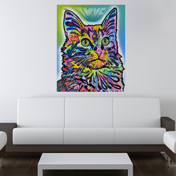 My Wonderful Walls - Angora Cat Wall Sticker - Decal, Small - Angora Cat graphic by Dean Russo