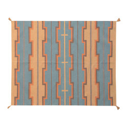 1800-Get-A-Rug - Flat Weave Hand Woven Southwest Design Sh11589 - About Tribal & Geometric