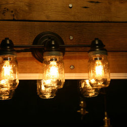 Mason jar wall lamp -