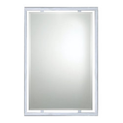 Quoizel - Quoizel QR1221C Norton Mirror - This sleek mirror provides stylish reflection in most any room in your home.