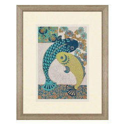 Paragon Art - Paragon Koi Ornament I - Artwork - Koi Ornament I ,  Paragon Exclusive Giclee     Artist is Zarris , Paragon has some of the finest designers in the home accessory industry. From industry veterans with an intimate knowledge of design, to new talent with an eye for the cutting edge, Paragon is poised to elevate wall decor to a new level of style.