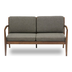 Bryght - Mier Hazel Loveseat - The Mier love seat is simple yet modern in its appeal. A lovely wood frame with wide slats sets the tone for a great looking seat that's comfy with detachable cushions. Looks great with the Mier hazel lounge chair!