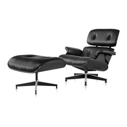 Herman Miller - Herman Miller   Eames® Lounge Chair with Ottoman, Ebony - New Ebony introduction, 2014. Original design by Charles & Ray Eames, 1956.