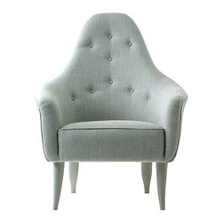 Chelsea Textiles - Armchair with curved back - Size: H37 W29 D31.5 in