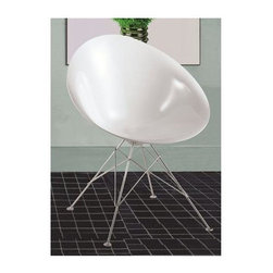 Fine Mod Imports - Eco Wire Base Dining Chair - Set of 2 - Set of 2. Contemporary style. Unique elegant look. White ABS frame. Warranty: One year. Assembly required. Seat: 18 in. W x 15 in. H. Overall: 18 in. W x 19 in. D x 32 in. H (19 lbs.)