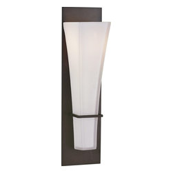 Murray Feiss - Murray Feiss Boulevard Transitional Wall Sconce X-BRO0221BW - Clean lines and contemporary influencing give a modern and updated look to this Murray Feiss wall sconce. From the Boulevard Collection, the shade is made from an opal etched glass shade and the elongated shape adds interest. Meanwhile, the dark tones of the Oil Rubbed Bronze finish soften the clean lines of the backplate and pull the look together.