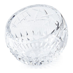 """Waterford - Cleo Angled Rose Bowl - CLEAR - WaterfordCleo Angled Rose BowlDetailsMade of lead-free crystal.Hand wash.4""""Dia. Imported.Designer About Waterford Crystal:Established in 1783 Waterford crystal is cherished around the world for its rich tradition of craftsmanship and artistry. Each piece from stemware to decorative items is still mouth blown and handcrafted by master artisans. A customary gift to royalty and heads of state a treasured heirloom for generations."""