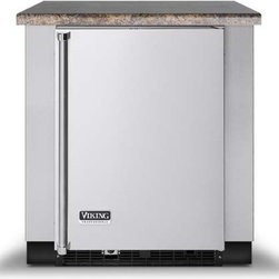 """Viking 30 Inch Deep Undercounter Refrigeration Base - Commercial-type construction, design and styling. All cabinets are constructed completely of heavy-duty stainless steel. Optional toe kick included. 32""""W x 30""""D x 34 1/2""""H refrigeration base. For use with Viking 24""""W refrigeration products."""
