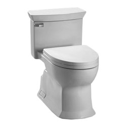 Toto - Toto MS964214CEFG#01 White Eco Soiree 1-Piece Toilet, Universal Height, 1.28 GPF - Toto MS964214CEFG#01 Cotton White Soiree One-Piece Toilet. Toto is the world's largest plumbing products manufacturer, they have been designing and innovating plumbing fixtures, accessories, showers, and for over 90 years. Each collection and product that Toto makes is unique in appearance and performance. This Toto MS964214CEFG#01 Cotton White Soiree One-Piece Toilet features Toto's patented glazing process (SanaGloss). This Finish is engineered to minimize any particles from sticking to the porous surface of the ceramic toilet bowl. This toilet also includes an elongated toilet bowl, Double cyclone flushing system, and a Universal height. This toilet comes in Cotton White.