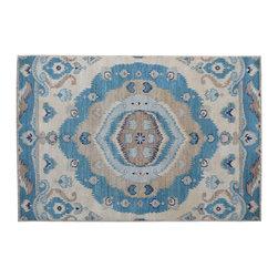 1800-Get-A-Rug - Oriental Rug Hand Knotted Rug Ikat Uzbek Design Sh11792 - About Wool Pile