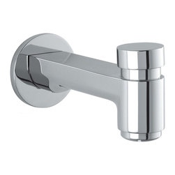 Hansgrohe - Hansgrohe-14414001 Metris S Tub Spout with Diverter in Chrome - Hansgrohe-14414001 Metris S Tub Spout with Diverter in ChromeMetris S harnesses the pure minimalist style that so often epitomizes contemporary European designs. With the geometrical transition of curve into smooth planes, the design projects a decidedly clean and versatile persona. The full handles with the widespread and bidet products enhance the originality and balance of an already distinctive series. The Metris S series also features a single-hole version and a unique tall faucet for vessel sinks. In the shower, the trim sets continue the minimalist style, and the purist form of Raindance S 150 AIR handshowers and showerheads add sophistication and Hansgrohe's award-winning air-injection technology to the series.Hansgrohe-14414001 Metris S Tub Spout with Diverter in Chrome, Features:• Solid brass• 1/2-Inch female NPT inlet or 3/4-Inch male• 5-7/8-Inch spout reachHansgrohe-14414001 Specification Sheet Hansgrohe Installation Instructions Hansgrohe Limited WarrantyManufacturer: HansgroheModel Number: 14414001Manufacturer Part Number: Hansgrohe 14414001Collection: Metris SFinish Code: Finish: ChromeUPC: 011097552255This product is also listed under the following Manufacturer Numbers and Finish Codes:Hansgrohe 14414001        HG14414001        14414001Product Category: Bathroom FaucetsProduct Type: Metris S Tub Spout