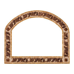 Stone mosaic mirror frame with metal inlay - Handcrafted mosaic mirror frame.