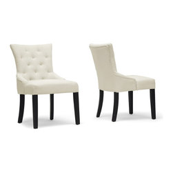 "Baxton Studio - Baxton Studio Epperton Beige Linen Modern Dining Chair (Set of 2) - The Epperton Dining Chair's beige linen brings a versatile look to your dining space that will continue to be a staple in your home as your taste evolves. This functional dining chair is made in China with a wooden frame topped with foam cushioning for comfort. Black wood legs with non-marking feet finish the look. The Epperton Chair requires assembly and requires spot cleaning when necessary. 21.75""W x 25.75""D x 35""H, seat'sion: 19.75""W x 21.62""D x 18.25""H"