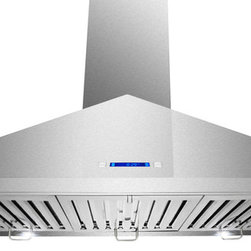 """AKDY - AKDY AG-Z198KL Euro Stainless Steel Wall Mount Range Hood, 36"""" - With more convenience, performance and style, AKDY range hoods are changing the way the modern family cooks. With variable speed fan control, this hood effectively removes smoke and vapors from the kitchen. A cooktop light assists when preparing meals on the range. And, the removable baffle filter is dishwasher safe. When it comes to style, these hoods can complement any kitchen decor. By incorporating multiple exhaust options and a modern appearance, AKDY provides innovative range hoods designed to accentuate today's lifestyles."""