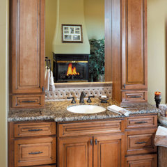 mediterranean bathroom by Canyon Creek Cabinet Company