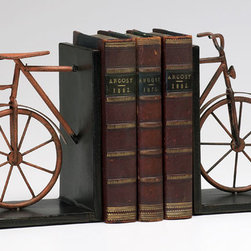 Cyan Design - Bicycle Bookends - Bicycle bookends - muted rust