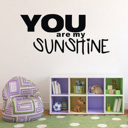 ColorfulHall Co., LTD - Wall Decal You are my Sunshine Children's - Wall Decal You are my Sunshine Children's