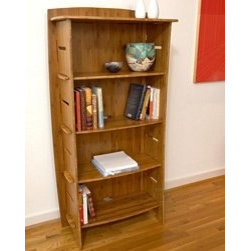 Legare Kids Amber Bamboo Storage Bookcase - Decorate your kid's room with this sturdy, sustainable amber bamboo bookcase. I like the interesting design of the bookcase; it's not your standard-looking, generic shelf furniture.
