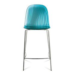 DomItalia Furniture - Playa-SGB Stool in Blue - This Italian-designed Playa Stool in Light Blue is a beautiful example of modern elegance. This seat is easy to store and is available in stable, sturdy lacquered steel frame.
