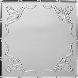 """Decorative Ceiling Tiles - Longhorn - Aluminum Ceiling Tile - 24""""x24"""" -  #2426 - Find copper, tin, aluminum and more styles of real metal ceiling tiles at affordable prices . We carry a huge selection and are always adding new style to our inventory."""
