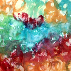 Jewel Tone Abstract - Jewel Tone is a watercolor abstract print from my original painting.