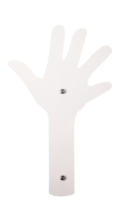 Welland - Welland Creative Finger Wall Mount Coat Hat Rack Hook Hanger, White - Wall Mount Coat Racks, also called Coat Stand or Garment Hangers.