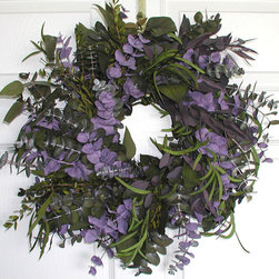 Purple Haze Eucalyptus Wreath - This one is very special. The colors may not be traditional autumn colors, but the different kinds of eucalyptus, including the Purple Haze, give this a wonderful color combination that I love.