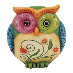 Owl Table Top Accessory Made of Durable Resin - If you are looking for a striking design as a show piece for decorating your house, then resin owl piece is just the thing you are looking for. This magnificent decor piece perfectly captures the true beauty of the bird. This decorative owl piece is made from resin material which makes it strong and long lasting. The resin adds a glossy finish which makes it all the more attractive. Its multitude of colors and superior quality makes it an absolute must-have for every home. Apart from adding elegance to any home decor, this unique accessory makes for a great gift item as well.. It comes with a following dimension