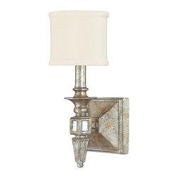 Capital Lighting - Capital Lighting 8481SG-535 Palazzo Silver & Gold Leaf Wall Sconce - Capital Lighting 8481SG-535 Palazzo Silver & Gold Leaf Wall Sconce
