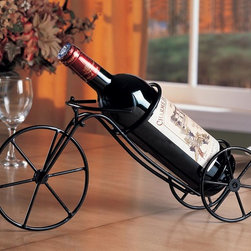 Coaster - Black Transitional Storage Rack - Wine bottle holder in a black finish. Holds one bottle.