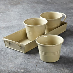 Herb Pots - A windowsill is all you need for these charming herb pots.