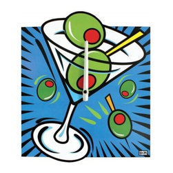 Westland - 12.5 Inch Martini Cocktail Analog Wall Clock with Olives, Blue - This gorgeous 12.5 Inch Martini Cocktail Analog Wall Clock with Olives, Blue has the finest details and highest quality you will find anywhere! 12.5 Inch Martini Cocktail Analog Wall Clock with Olives, Blue is truly remarkable.