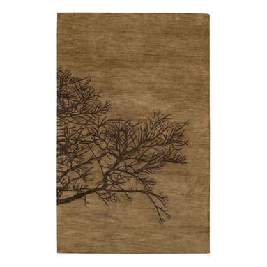 Capel - Contemporary Desert Plateau-Shadow Branch 5'x8' Rectangle Tree Bark Area Rug - The Desert Plateau-Shadow Branch area rug Collection offers an affordable assortment of Contemporary stylings. Desert Plateau-Shadow Branch features a blend of natural Tree Bark color. Hand Tufted of 90% Wool  10% Viscose the Desert Plateau-Shadow Branch Collection is an intriguing compliment to any decor.