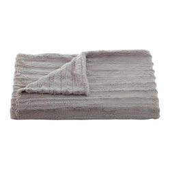 Belle & June - Lux Channel Stripe Grey Throw - Wrap yourself in a luxurious embrace with this throw blanket. A great gift to give or receive, use it to add layers of texture and color to your bed, sofa or chaise.