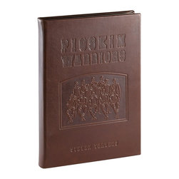 Pigskin Warriors Traditional Leather Book - 140 Years of College Football's Greatest Traditions, Games, and Stars