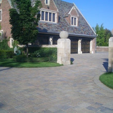Rustic  by Spurlocks natural stone and brick paving