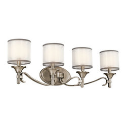 "Kichler - Kichler 45284AP Lacey 31"" Wide 4-Bulb Bathroom Lighting Fixture - Product Features:"