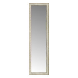 """Posters 2 Prints, LLC - 14"""" x 49"""" Libretto Antique Silver Custom Framed Mirror - 14"""" x 49"""" Custom Framed Mirror made by Posters 2 Prints. Standard glass with unrivaled selection of crafted mirror frames.  Protected with category II safety backing to keep glass fragments together should the mirror be accidentally broken.  Safe arrival guaranteed.  Made in the United States of America"""