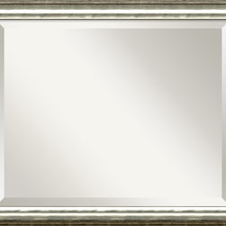 """Amanti Art - SoHo Silver Wall Mirror - Simple. Elegant. This mirror reflects your love of clean lines and timeless design. It blends with any decor. Hang it wherever you want to say, """"Hey room, let's look classy."""""""