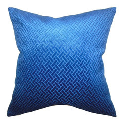 """The Pillow Collection - Brielle Solid Pillow Blue Velvet 18"""" x 18"""" - This square pillow lends a sophisticated touch to your interiors with its rich color palette and artistic texture. This throw pillow is made of a plush velvet material. An iridescent sheen adds a luxurious touch to this 18"""" pillow. Display this decor pillow in your living room, bedroom or anywhere inside your home. Hidden zipper closure for easy cover removal.  Knife edge finish on all four sides.  Reversible pillow with the same fabric on the back side.  Spot cleaning suggested."""