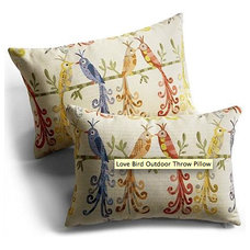 eclectic outdoor pillows by Grandin Road