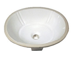 TCS Home Supplies - 18-1/8 Inch Porcelain Ceramic Vanity Undermount Bathroom Vessel Sink - Product Features: