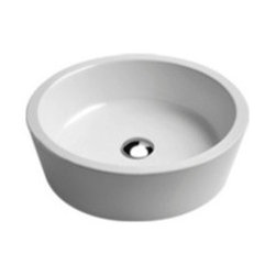 GSI - High End Round Vessel Bathroom Sink - This beautiful round above counter vessel sink is perfect for any modern or contemporary bathroom setting. Sink is made out of high quality ceramic with a white finish. Sink has no overflow and comes without faucet holes. Made in Italy by GSI.