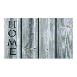 BuyMATS Inc. - Home Wood Welcome Mat - •Exciting full color design Indoor/Oudoor Entry MAT with built in channels provide high fashion appeal.