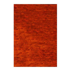 """Safavieh - Hand-Knotted Hemp Rug in Rust (6 ft. x 9 ft.) - Size: 6 ft. x 9 ft.. Hand knotted. Made of hemp. Made in IndiaSafavieh's Bohemian Collection is all-organic, with exquisitely fine jute pile woven onto a cotton warp and weft, and an earthy natural color palette. The high quality jute chosen for our Bohemian rugs is biodegradable and recyclable, with an innate sheen because it is harvested only from Cannabis Sativa (commonly known as the """"true hemp"""" plant), a quickly renewable resource that excels in length, durability, anti-mildew and antimicrobial properties. Safavieh brings fashion excitement to the eco-friendly rug category with the Bohemian collection's unique patterns, ribbed textures and remarkable hand. The rugs are washed to soften the yarn, and then brushed to an even more lustrous sheen. Hand Knotted in India."""