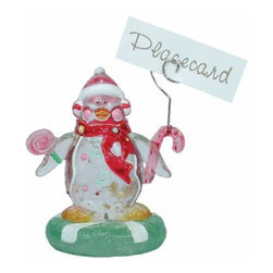 WL - 3.75 Inch Holiday Winter Penguin Handcrafted Place Card Holder - This gorgeous 3.75 Inch Holiday Winter Penguin Handcrafted Place Card Holder has the finest details and highest quality you will find anywhere! 3.75 Inch Holiday Winter Penguin Handcrafted Place Card Holder is truly remarkable.