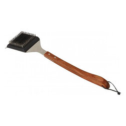 Bull BBQ - Bull Outdoor Vineyard Rosewood Handle Big Head - This grill brush comes with contoured rosewood handles, a stainless steel Big Head, and a replaceable head.