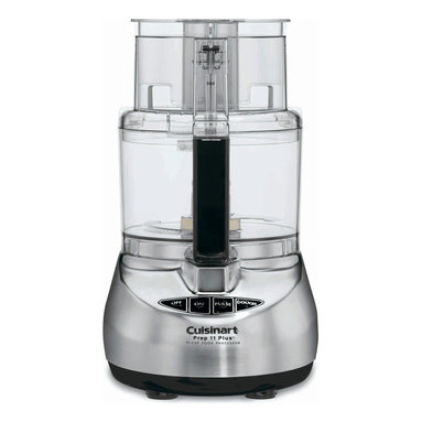 Cuisinart Prep 11 Cup Food Processor Stainless - Cuisinart introduces the new Prep 11 Plus. It boasts a revolutionary motor with alternate speeds for perfect mixing  and features Cuisinart's patent-pending Dough Control technology  which adjusts the speed to automatically ensure proper dough consistency. The Prep 11 Plus includes a rounded housing for easier cleaning and handling  new safety features  and the Supreme Wide Mouth Feed Tube. Plus  it's backed by a ten-year warranty  the longest in the industry!  Product Features      11-cup work bowl   Touchpad dough control with PowerPrep metal dough blade   One-piece Supreme wide mouth feed tube holds whole fruits and vegetables   Touchpad fingertip controls   Stainless steel medium slicing disc (4 mm)   Stainless steel shredding disc   Chopping/mixing blade   Metal dough blade   Small and large pushers   Detachable disc stem   Spatula  how to DVD  instruction/recipe book   Full 10-year motor warranty   Limited 3-year warranty on entire unit   BPA Free