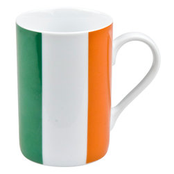Konitz - Set of 4 Flag Mugs Ireland - Show your national pride with this patriotic mug in an Irish Flag design. The Ireland Flag Mug is perfect for celebrating holidays or showing love for your country. The bottom of the mug explains the unique symbolism of this flag:
